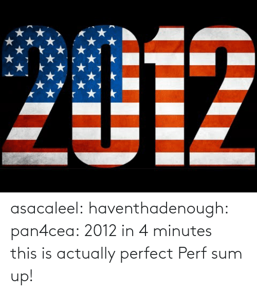 Sum Up: 2012 asacaleel:  haventhadenough:  pan4cea:  2012 in 4 minutes    this is actually perfect  Perf sum up!
