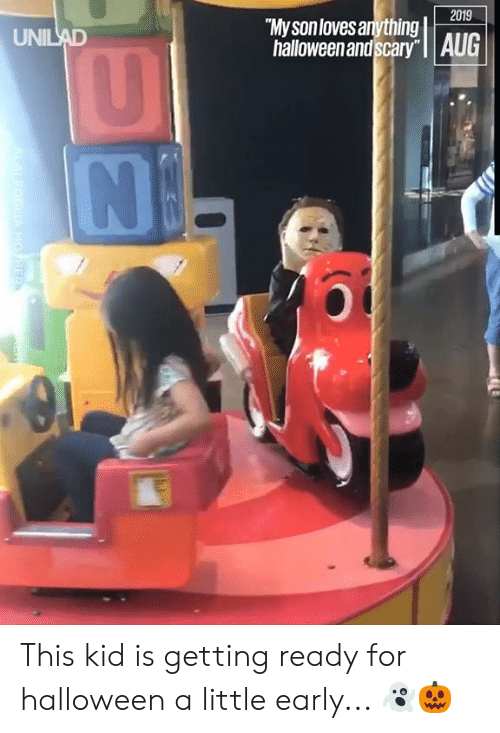 """Dank, Halloween, and 🤖: 2019  My sonloves anything  halloween and scary"""" 
