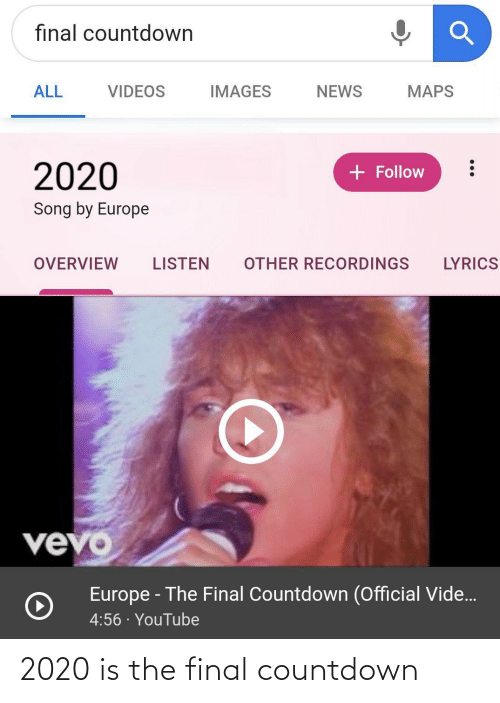 the final countdown: 2020 is the final countdown