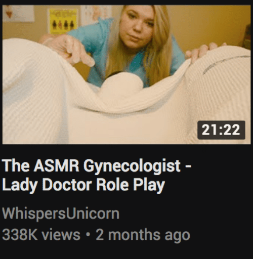 Doctor, Gynecologist, and Asmr: 21:22  The ASMR Gynecologist -  Lady Doctor Role Play  WhispersUnicorn  338K views 2 months ago