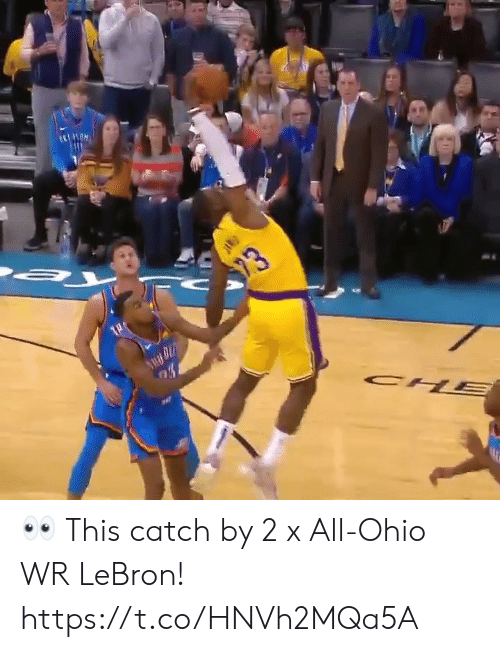 Lebron: 23  CH  PAR 👀 This catch by 2 x All-Ohio WR LeBron!  https://t.co/HNVh2MQa5A
