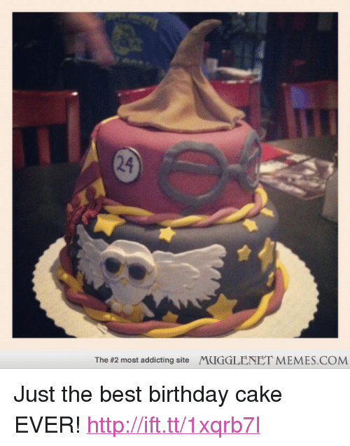 """Just The Best: 24  The #2 most addicting site  MUGGLENET MEMES.COM <p>Just the best birthday cake EVER! <a href=""""http://ift.tt/1xqrb7l"""">http://ift.tt/1xqrb7l</a></p>"""