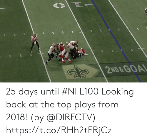looking back: 2ND&GOAL 25 days until #NFL100  Looking back at the top plays from 2018! (by @DIRECTV) https://t.co/RHh2tERjCz