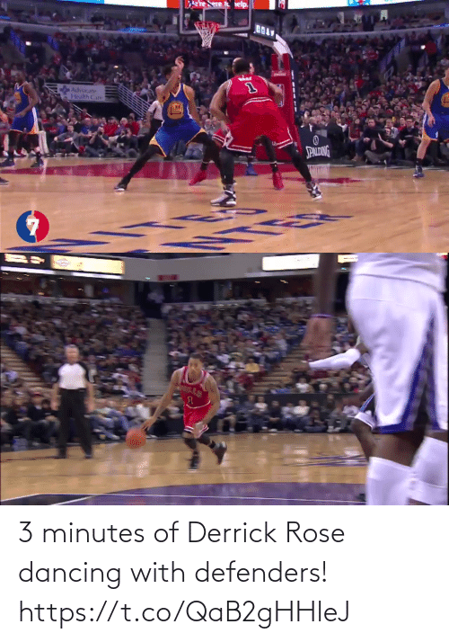 Dancing: 3 minutes of Derrick Rose dancing with defenders!    https://t.co/QaB2gHHleJ