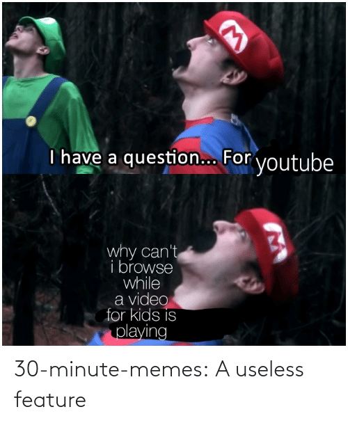 Feature: 30-minute-memes:  A useless feature
