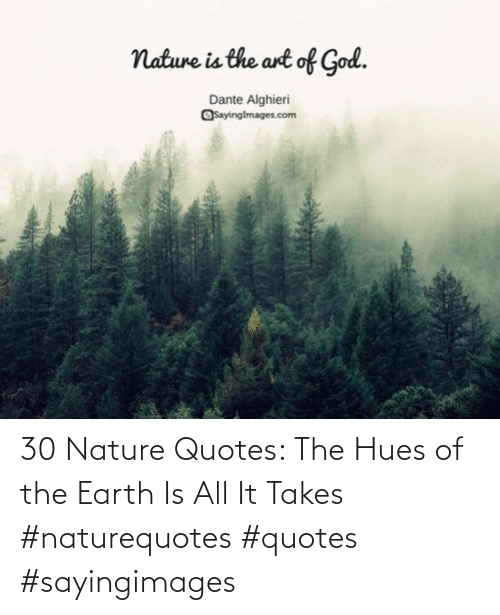Earth: 30 Nature Quotes: The Hues of the Earth Is All It Takes #naturequotes #quotes #sayingimages