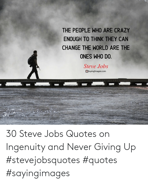 Quotes: 30 Steve Jobs Quotes on Ingenuity and Never Giving Up #stevejobsquotes #quotes #sayingimages