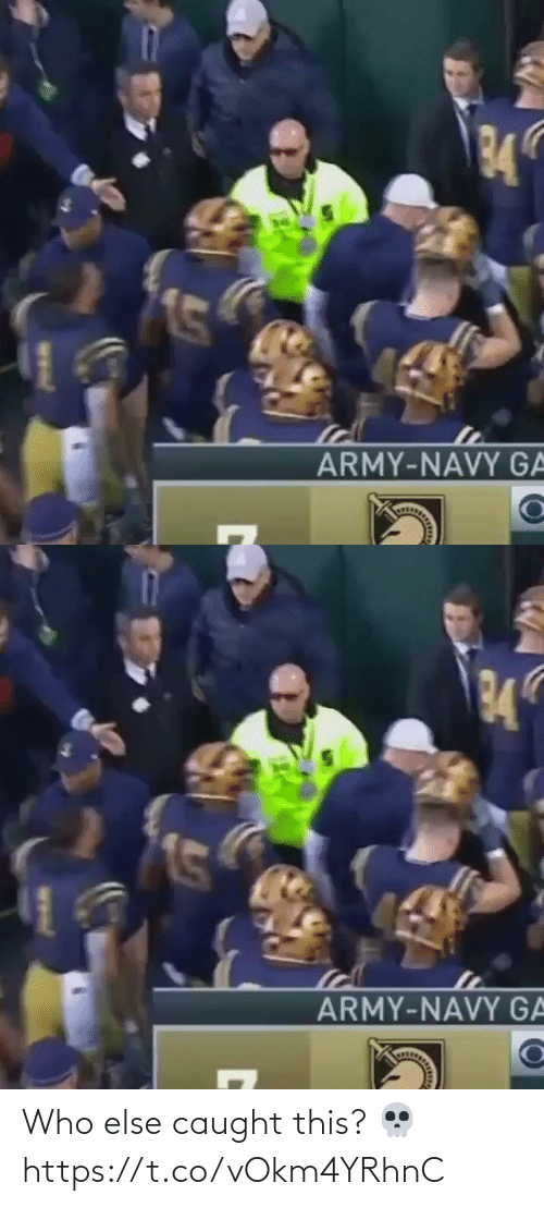Caught: 34  ARMY-NAVY GA   34  ARMY-NAVY GA Who else caught this? 💀 https://t.co/vOkm4YRhnC