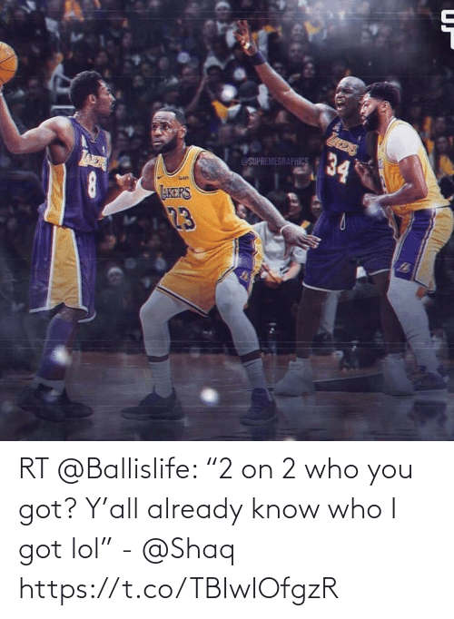 "Akers: 34  @SUPREMEGRAPHICS  AER  AKERS  23 RT @Ballislife: ""2 on 2 who you got? Y'all already know who I got lol"" - @Shaq https://t.co/TBIwIOfgzR"