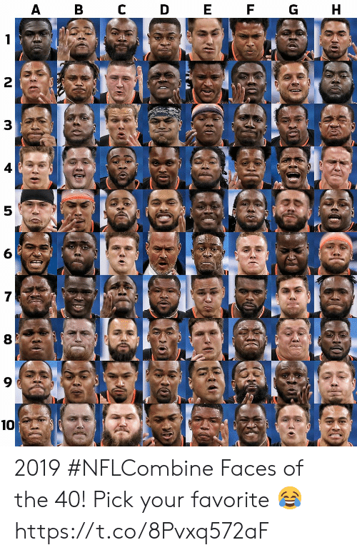 Memes, 🤖, and  Faces: 4  6  8  9  10 2019 #NFLCombine Faces of the 40!  Pick your favorite 😂 https://t.co/8Pvxq572aF