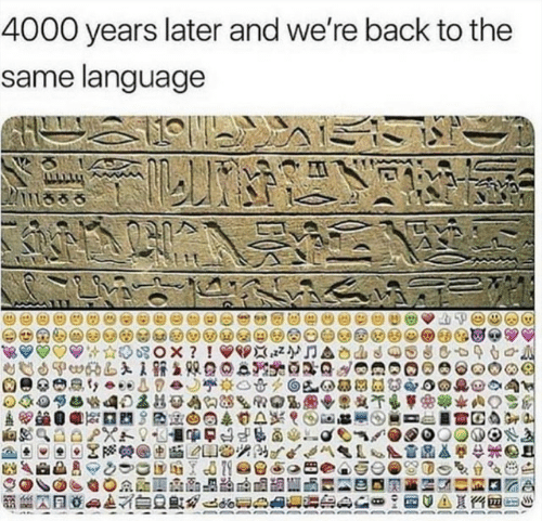 Back, Language, and Same: 4000 years later and we're back to the  same language