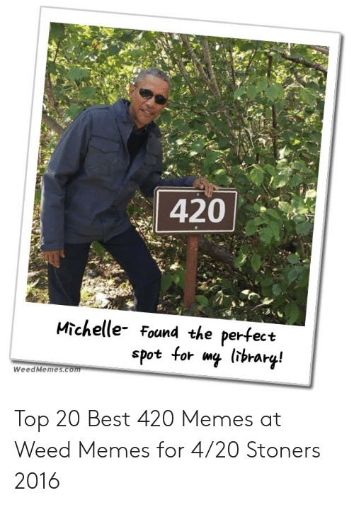 Best 420: 420  Michelle Found the perfect  spot for mq lsbrart!  WeedMemes Top 20 Best 420 Memes at Weed Memes for 4/20 Stoners 2016