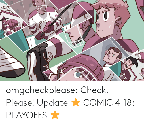check: 45 omgcheckplease:  Check, Please! Update!⭐ COMIC 4.18: PLAYOFFS ⭐