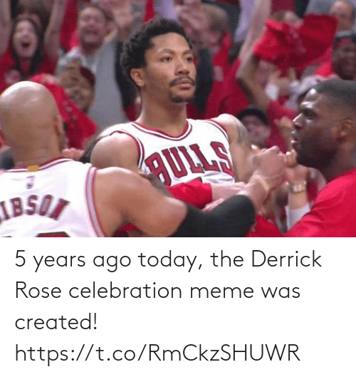 Years Ago: 5 years ago today, the Derrick Rose celebration meme was created! https://t.co/RmCkzSHUWR