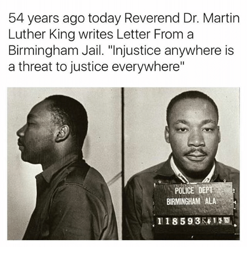 majority power vs justice in martin luther juniors a letter from a birmingham jail