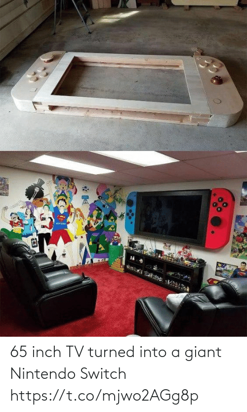 Giant: 65 inch TV turned into a giant Nintendo Switch https://t.co/mjwo2AGg8p