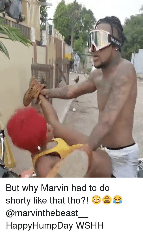 shorty's: 7 But why Marvin had to do shorty like that tho?! 😳😩😂 @marvinthebeast__ HappyHumpDay WSHH