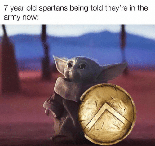 Star Wars, Army, and Old: 7 year old spartans being told they're in the  army now