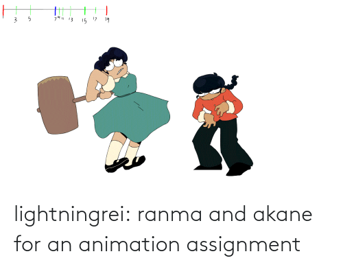 ranma: 79| 13  15 17  19 lightningrei:  ranma and akane for an animation assignment