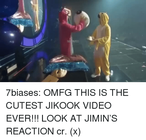 Jikook: 7biases:  OMFG THIS IS THE CUTEST JIKOOK VIDEO EVER!!! LOOK AT JIMIN'S REACTION cr. (x)