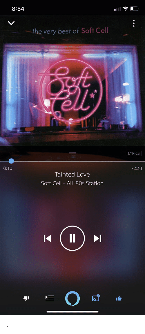 tainted love: 8:54  the very best of Soft Cell  fell  LYRICS  -2:31  0:10  Tainted Love  Soft Cell - All '80s Station .