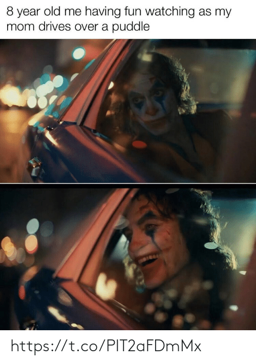 Old: 8 year old me having fun watching as my  mom drives over a puddle https://t.co/PIT2aFDmMx