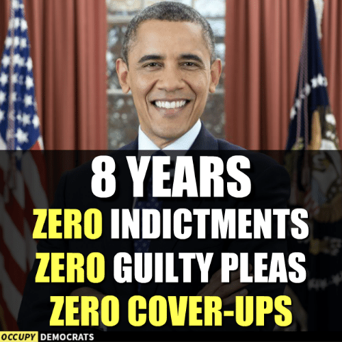 Memes, Ups, and Zero: 8 YEARS  ZERO INDICTMENTS  ZERO GUILTY PLEAS  ZERO COVER-UPS  OCCUPY  DEMOCRATS