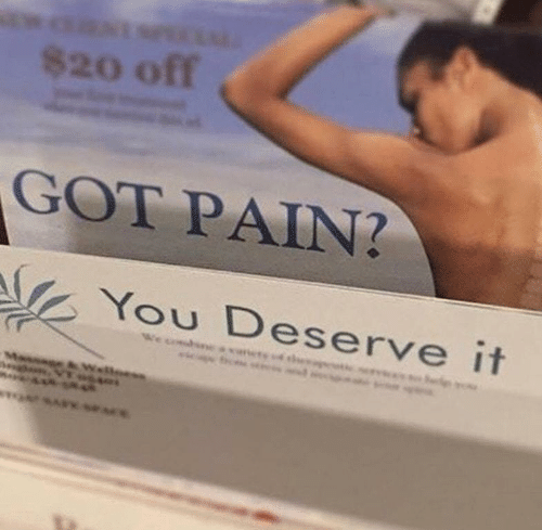 Pain, Got, and You: 8200ff く  GOT PAIN?  You Deserve it