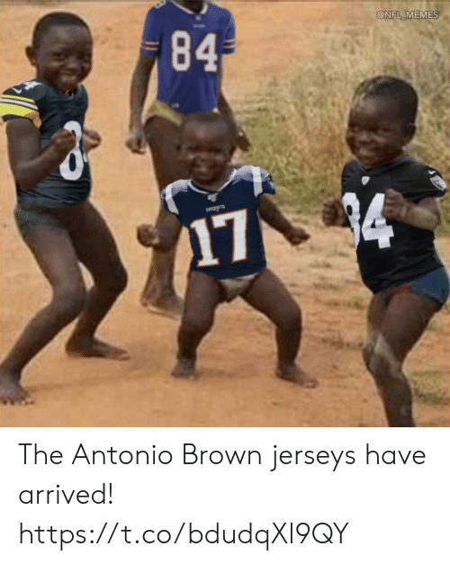 Antonio Brown: 84  @NFL MEMES  PATIOTS  174 The Antonio Brown jerseys have arrived! https://t.co/bdudqXl9QY