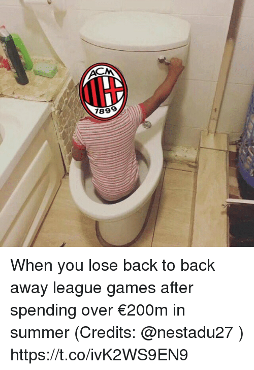 Back Away: 89 When you lose back to back away league games after spending over €200m in summer (Credits: @nestadu27 ) https://t.co/ivK2WS9EN9
