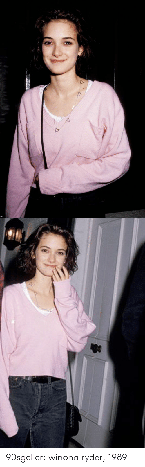 Tumblr, Blog, and Http: 90sgeller: winona ryder, 1989