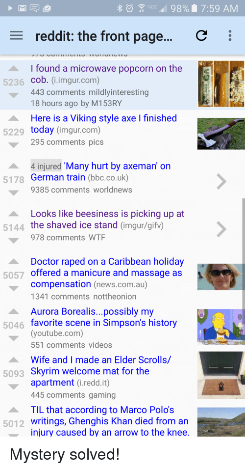 98% I 759 AM C E Reddit the Front Page I Found a Microwave