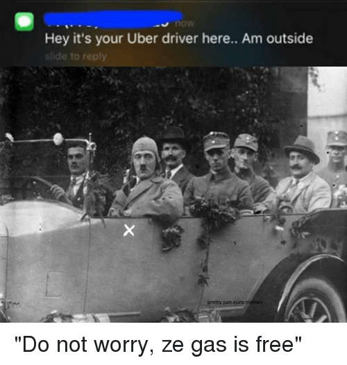 Facebook Do not worry ze gas is bda7ee now hey it's your uber driver here am outside slide to reply tty