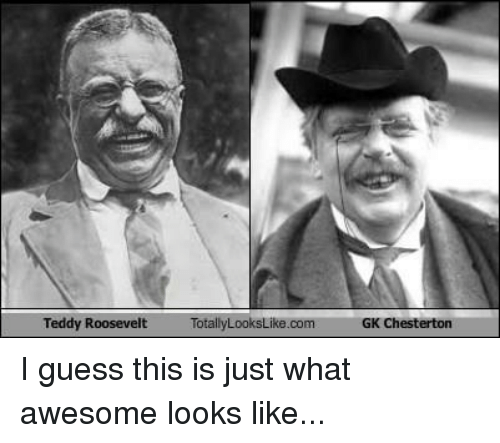 Totallylookslike: Teddy Roosevelt  TotallyLooksLike.com  GK Chesterton I guess this is just what awesome looks like...