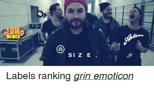Meme, Memes, and Music: MEMES  SI Z E Labels ranking grin emoticon