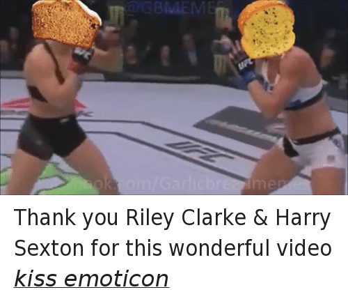 Videos, Thank You, and Kiss: GBMEM Thank you Riley Clarke & Harry Sexton for this wonderful video kiss emoticon