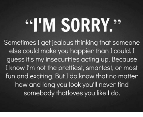 Facebook c21795 i'm sorry'' sometimes i get jealous thinking that someone else could
