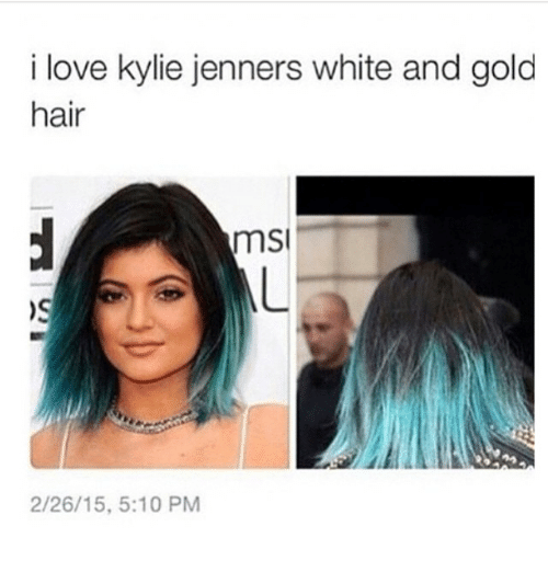msy: i love kylie jenners white and gold  hair  mSI  2/26/15, 5:10 PM