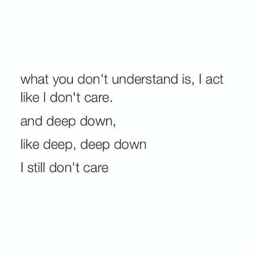 You Dont Understand