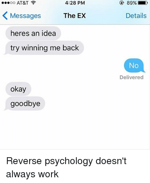 Reverse psychology examples relationships