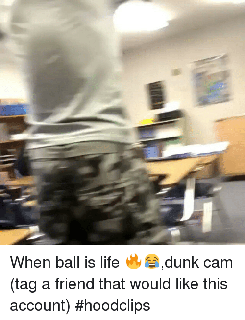 When Ball Is Life: When ball is life 🔥😂,dunk cam-(tag a friend that would like this account)-hoodclips