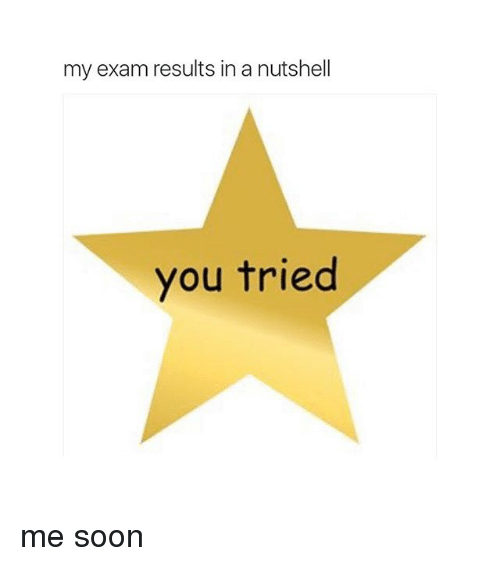 Soon..., Try Me, and Girl Memes: my exam results in a nutshell  you tried me soon