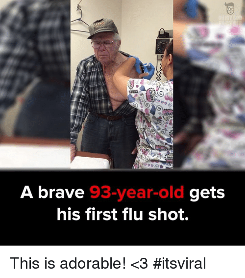 flu shot: A brave  3-year-old  g  his first flu shot. This is adorable! <3 #itsviral
