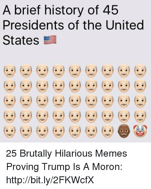 Memes, History, and Http: A brief history of 45  Presidents of the United  States 25 Brutally Hilarious Memes Proving Trump Is A Moron: http://bit.ly/2FKWcfX
