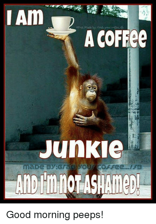 junkie: A COFEee  Junkie Good morning peeps!