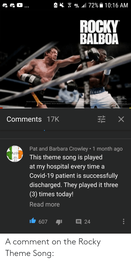 comment: A comment on the Rocky Theme Song: