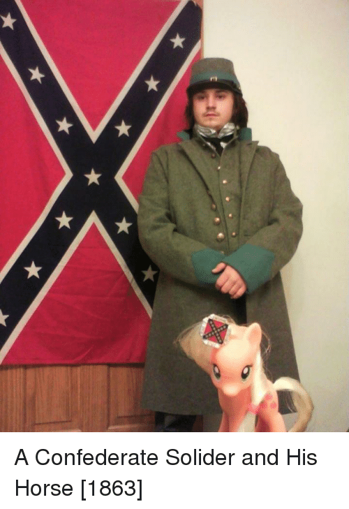 Confederate: A Confederate Solider and His Horse [1863]