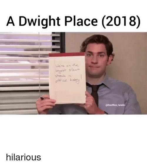 Fanatic: A Dwight Place (2018)  We're on the  est silen+  office hi  CE  @theoffice fanatic hilarious