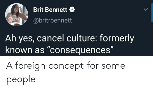 For, Concept, and People: A foreign concept for some people