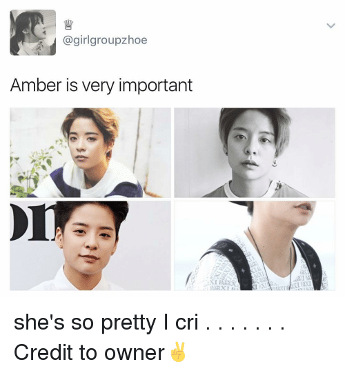 I Cri: (a girlgroupzhoe  Amber is very important she's so pretty I cri . . . . . . . Credit to owner✌